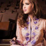 skin and purple dress by Al-Karam Allure-Summer Collection 2013