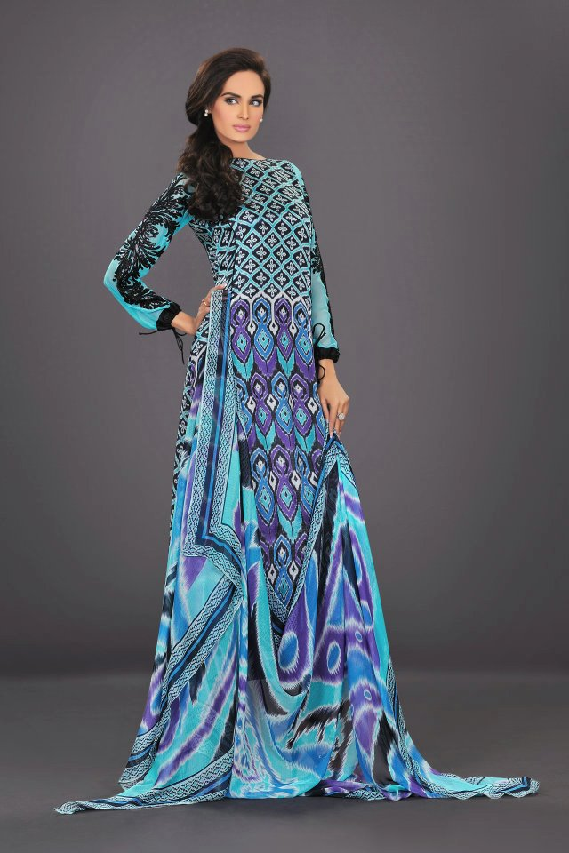 sky blue dress The World Of HSY PrintsSummer 2013