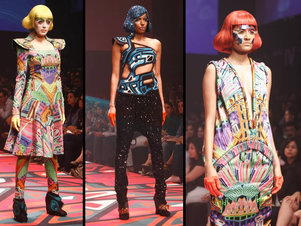 top and short wear by Manish Arora lakme fashion week