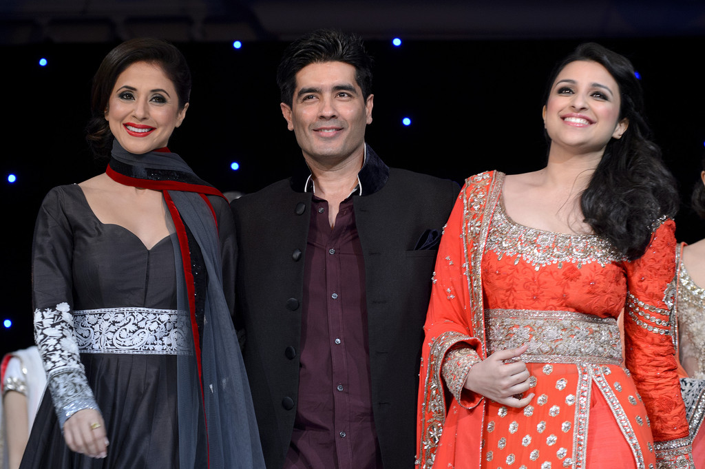 urmila and parineeti with Manish Malhotra