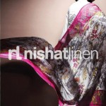 white and pink dress by Nishat Linen 2013  Summer Collection