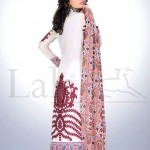 white and red Sana & Samia- Magnifique & Celebre Lawn
