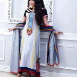 white and red dress by Al-Zohaib Textiles 2013 Lawn Collection