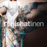 white dress by Nishat Linen 2013  Summer Collection