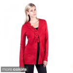 womens red sweaters