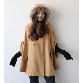 womens winter poncho