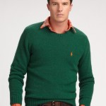 wool men green sweaters