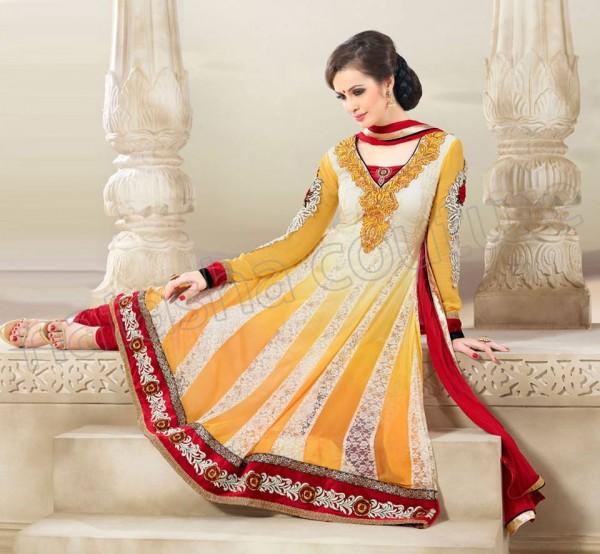 Anarkali Frock Eid Collection By Natasha Couture 13