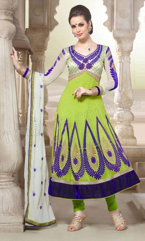 Anarkali Frock Eid Collection By Natasha Couture 3