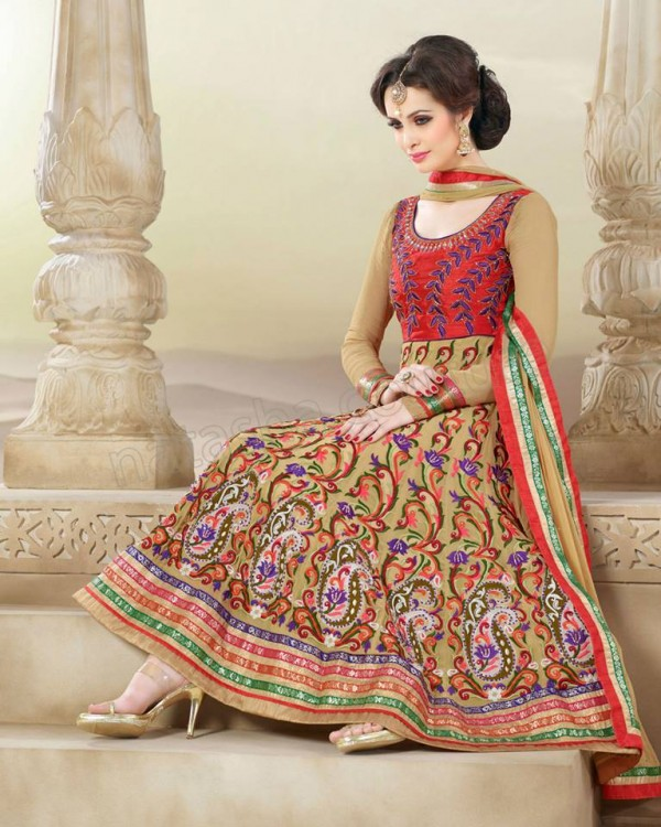 Anarkali Frock Eid Collection By Natasha Couture 6
