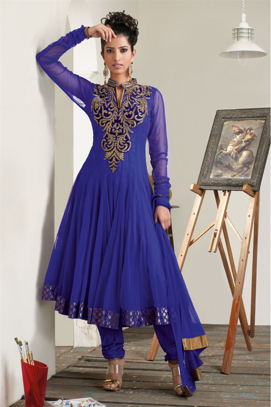 Beautiful Blue Frocks