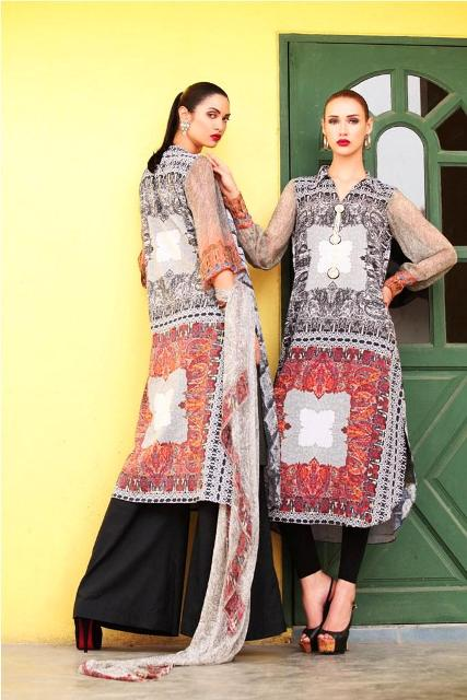 Black And White Moon Textile Lawn Dress