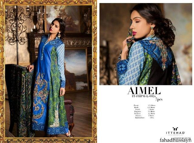Blue Fahad Hussayn Couture Lawn