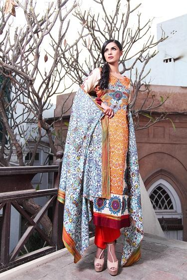 Colorful Moon Textile Lawn Dress