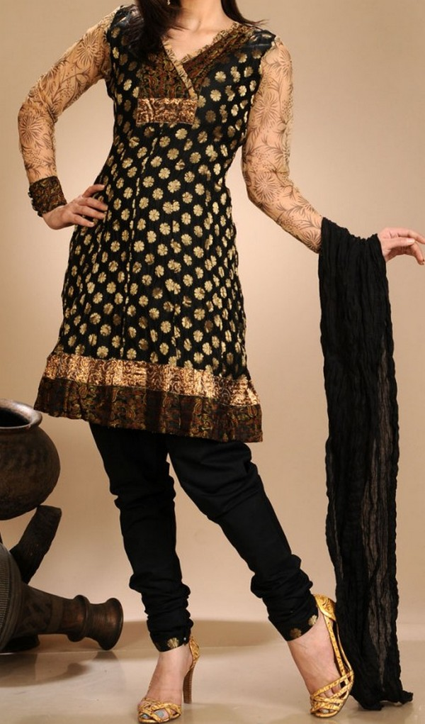 Designs Frocks With Churidar