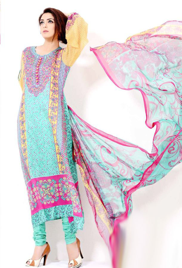 Eiza Egyption E9 Lawn Eid Collection 2013 by UA Textile 4