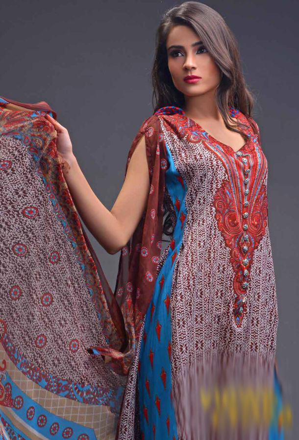 Eiza Egyption E9 Lawn Eid Collection 2013 by UA Textile 6