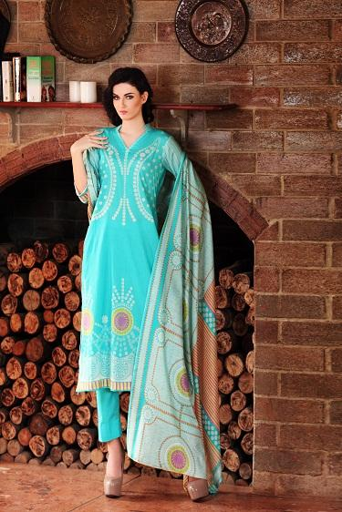 Froze Moon Textile Lawn Dress