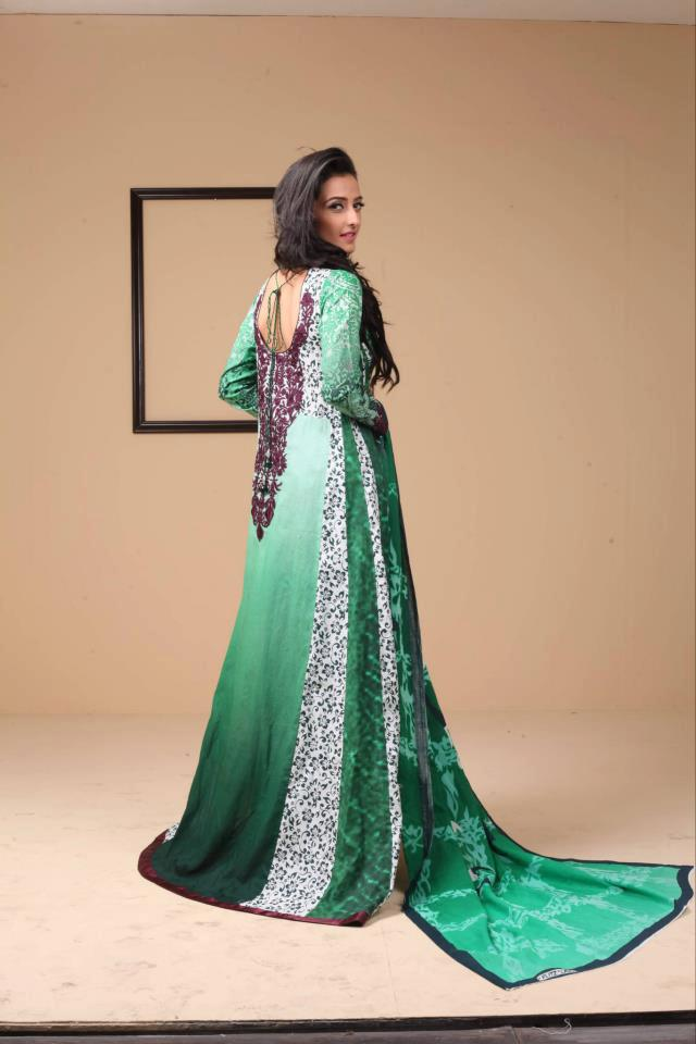Green Ayesha Somaya Lawn Dress