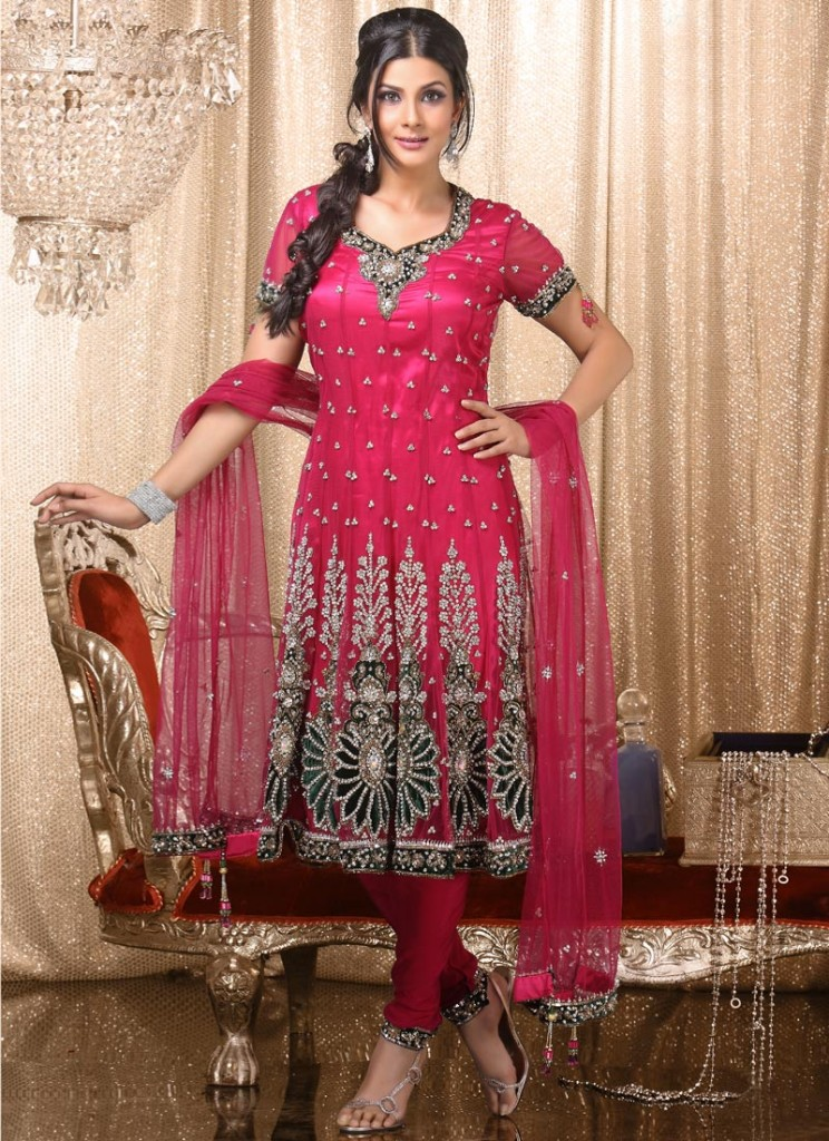 Indian bridal  Shocking Pink Frocks