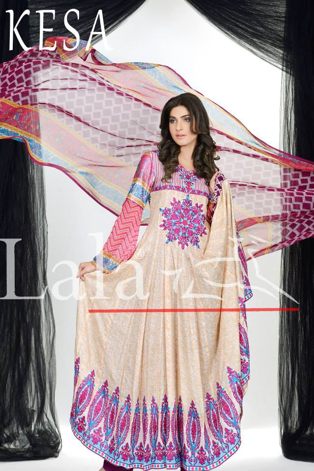 Kesa Embroidered Lawn Collection 2013 By Lala Textiles