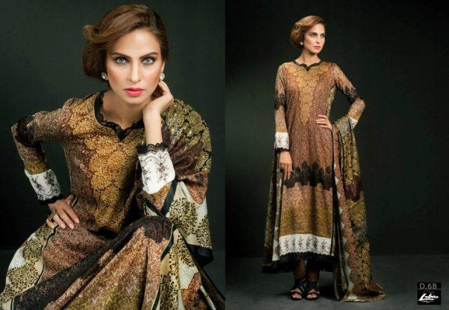 Libas Lawn Dress In Honey Color