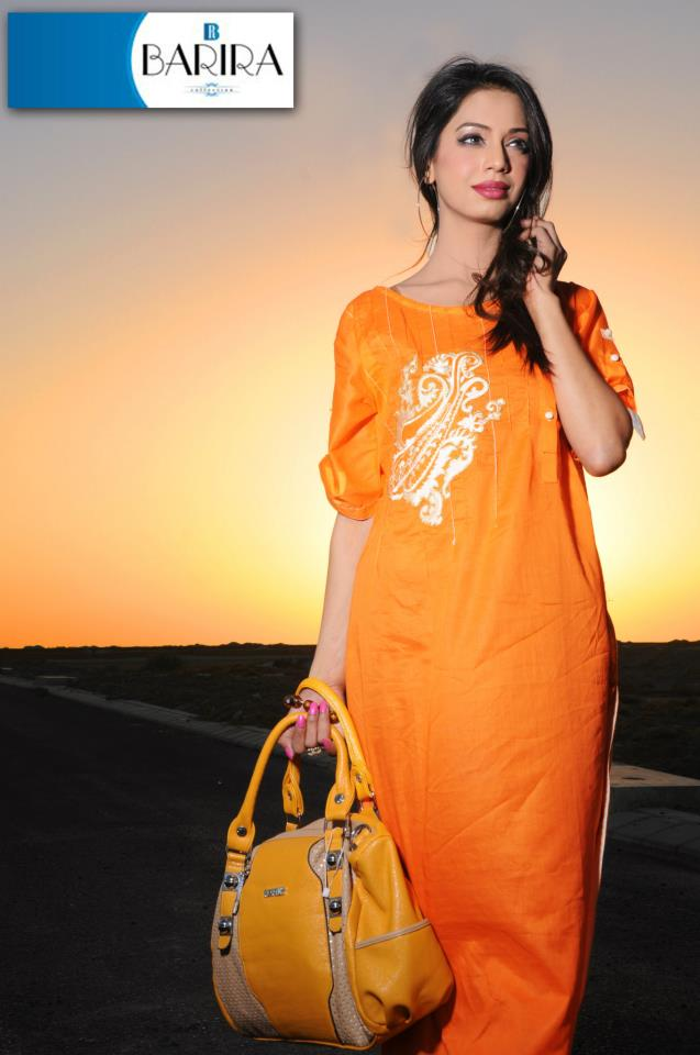 Light Orange Barira Dress Collection 2013