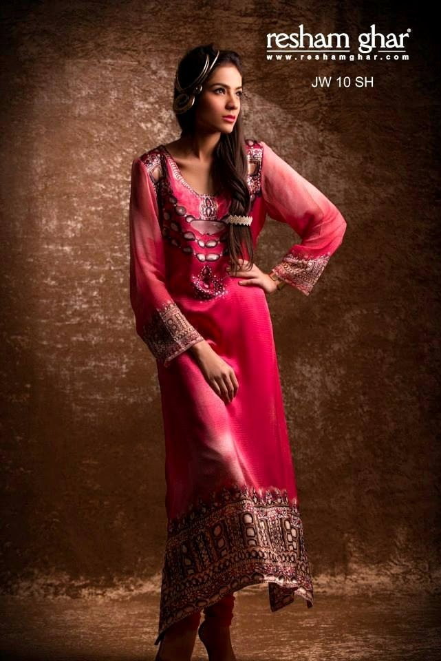 Resham Ghar eid wear collection 2013