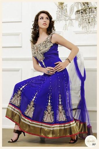 Women Blue wedding Blue Frocks Collection