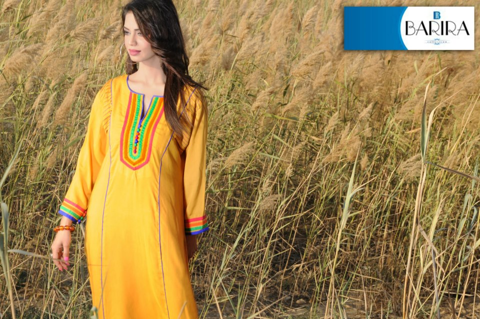 Yellow Barira Collection Spring Summer Dress