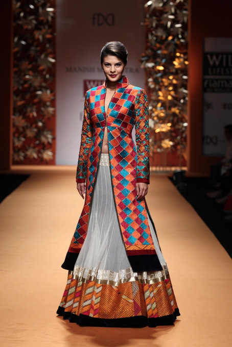 colorful Manish Malhotra Wills India Fashion Week 2013
