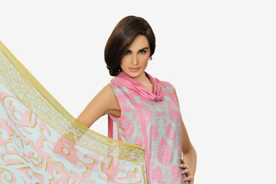 light pink dress by HSY NATION Summer 2012  13