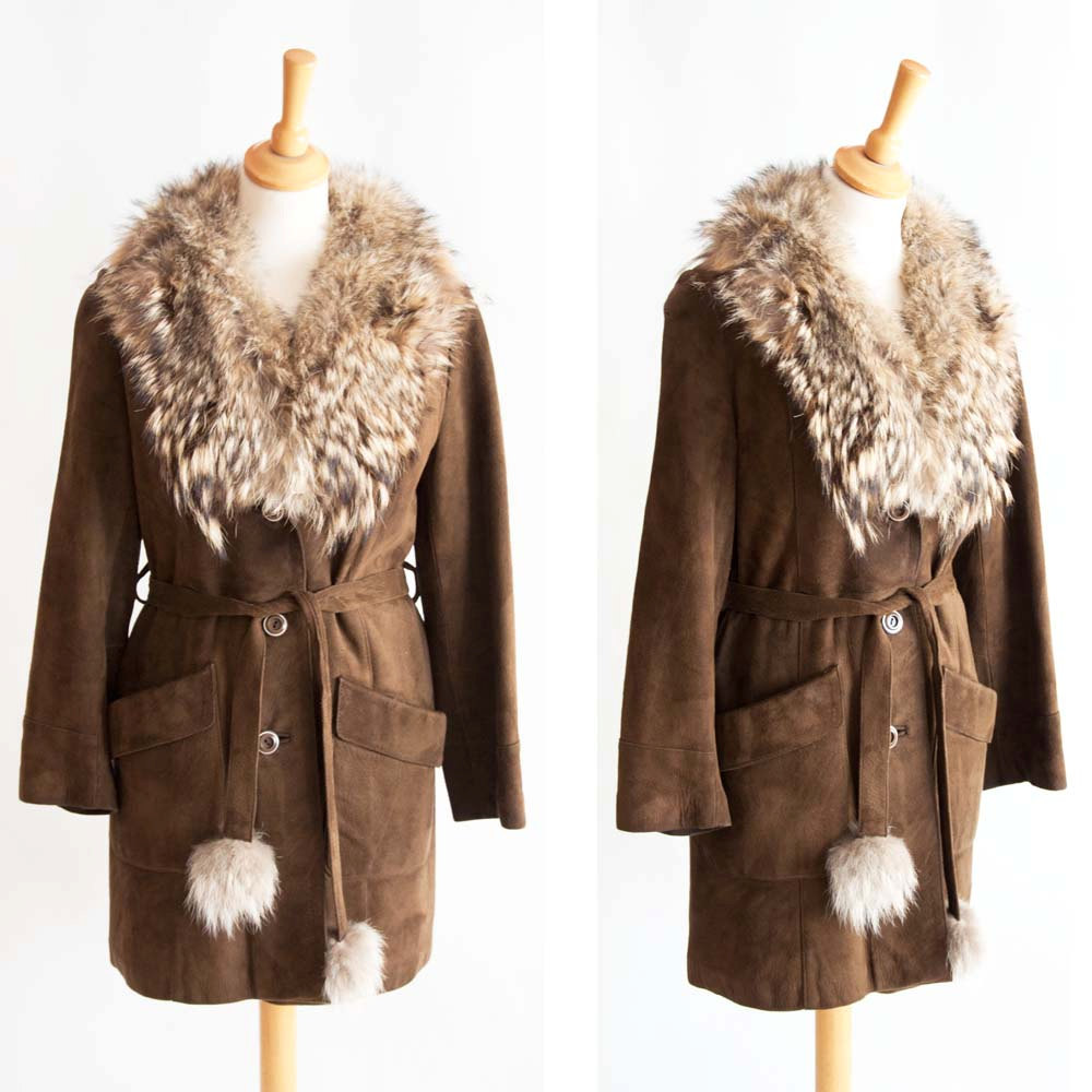make fur and suede winter cloak