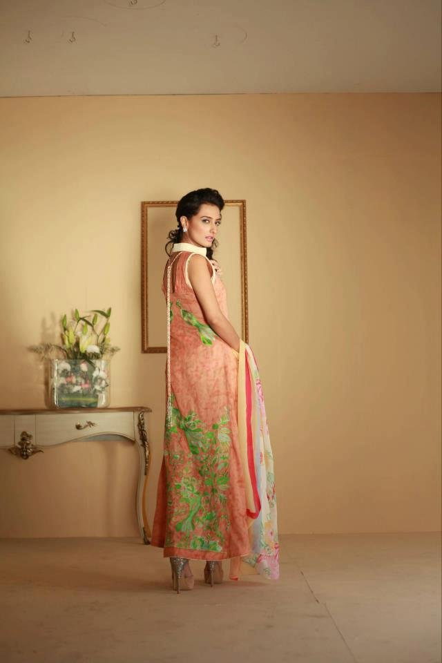 nice Ayesha Somaya Lawn Dress